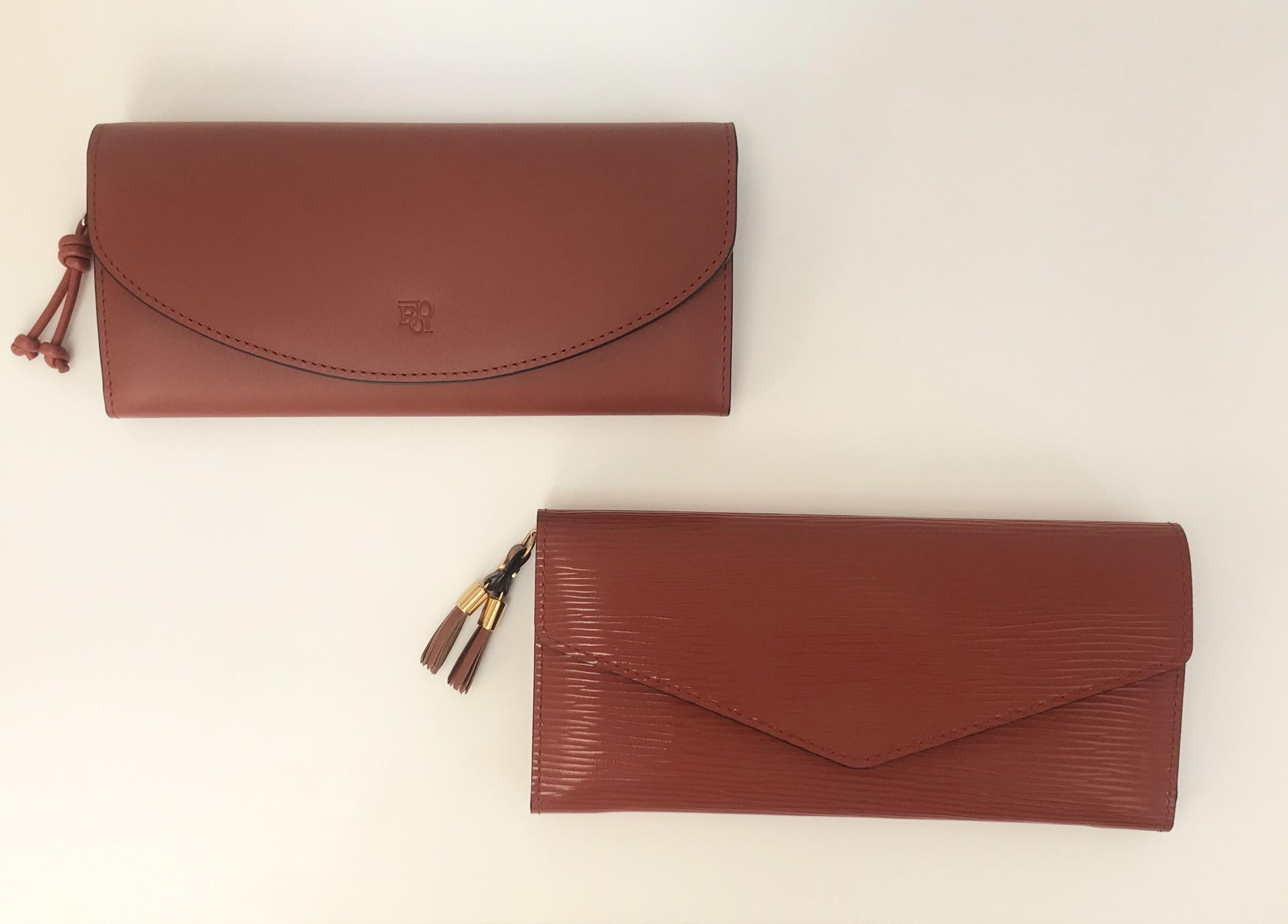 レンガ色のお財布