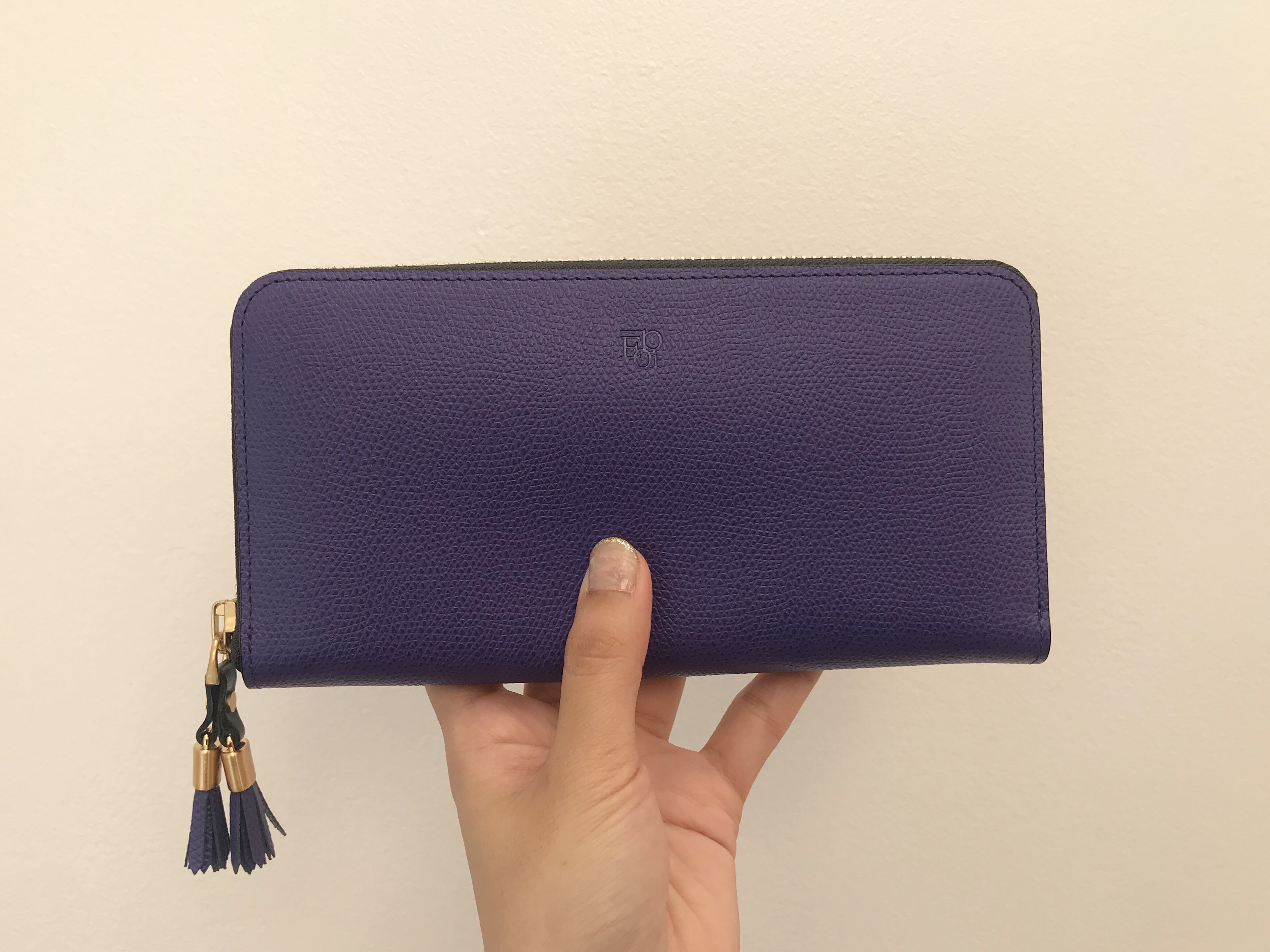 紫色のお財布